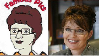 Separated at birth? Peggy Hill and Sarah Palin