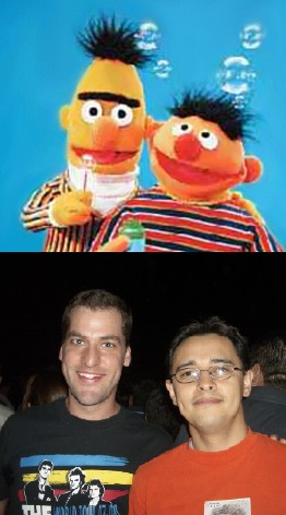 Marcos Kirsch and Jose Euclides Correa look like Bert and Ernie.