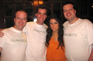 "Fanboys Jacobo, Marcos, and Moi with superstar Yael Sandler from the hit TV show ""Glam Girls""."