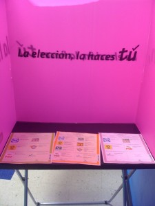 Voting booth in Monterrey, Mexico