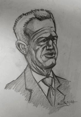 Caricature Javier Aguirre