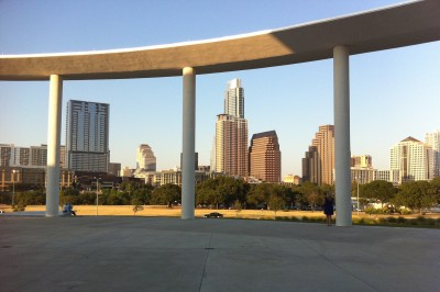Austin skyline as seen from the Long Center