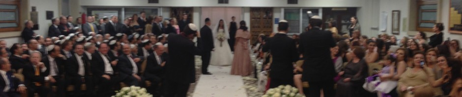 As seen from the chuppah