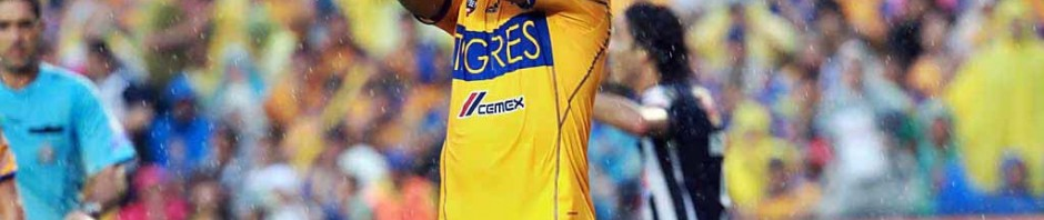 Israel Jiménez looks unhappy after scoring the own goal that sealed Tigres' defeat against arch-enemy Monterrey.